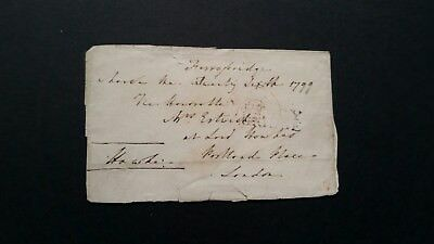 1799 Ferrybridge and Free Stamp on free front
