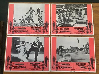 James Bond 007 Complete Set Combo Thunderball & You Only Live Twice 1971 Lobbies