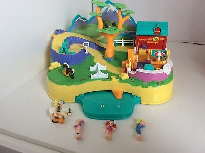Vintage Polly Pocket 1998 Pony Adventure -action Park With Figures
