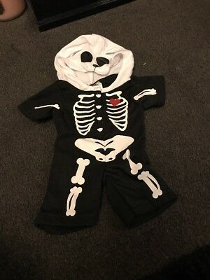 build a Bear Factory Skeleton Costume Halloween Outfit