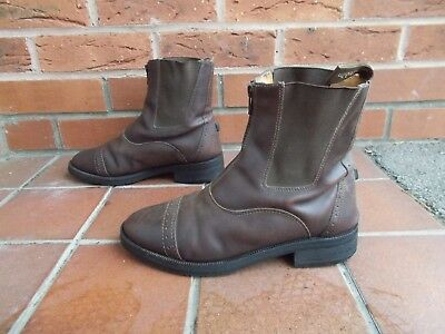 DUBLIN Brown Leather Jodhpur Boots *  6 uk * 39 eu * FRONT ZIP
