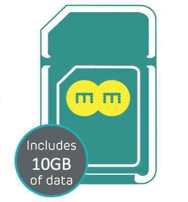 Official EE Trio 4G 10GB data SIM CARD Preloaded with 10GB data for 30 days
