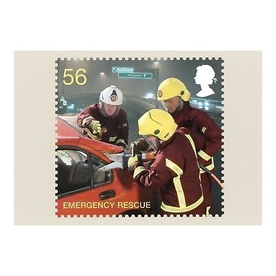FIRE and RESCUE SERVICE - (EMERGENCY RESCUE) PHQ 325 ROYAL MAIL - 2009 POSTCARD