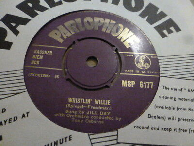 Jill Day Promises / Whistlin' Willie 1954 Purple Gold Parlophone  Rare Very Nice