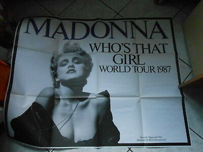 poster MADONNA WHO'S THAT GIRL WORLD TOUR 1987