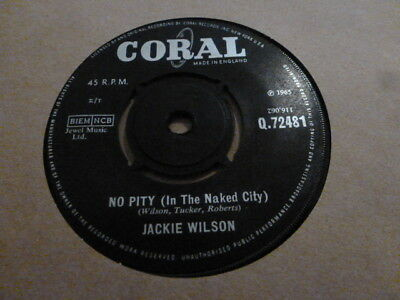Jackie Wilson No Pity(In The Naked City) 1965 Q.72481 Rare Very Nice