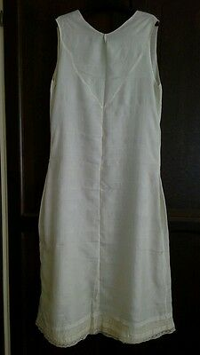 Vintage early 1900s ladies long silk cream petticoat