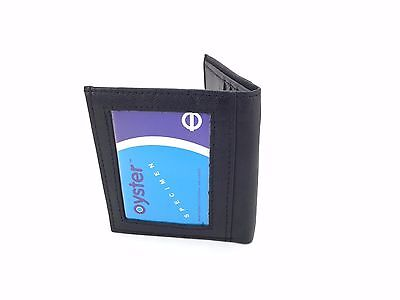 Soft Leather Bus Pass Oyster Credit Card Travel Wallet Holder Cash Pouch