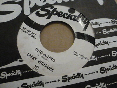 Larry Williams Ting-A-Ling / Little School Girl  Rare Specialty Promo Very Nice