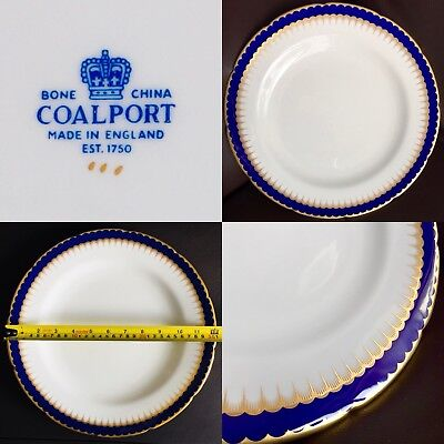 "Vintage (1960s) Large (12""/31cm) Gold Gilded Coalport English Bone China Charger"
