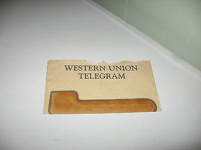 Western Union Telegraph From American Gi To Wife Announcing He Will He Home!1945