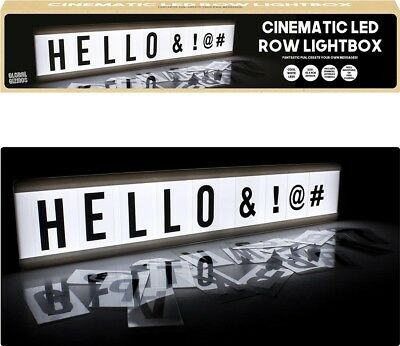 One Row Cinematic LED Light Box w/ Letters & Numbers | Freestanding/Mountable