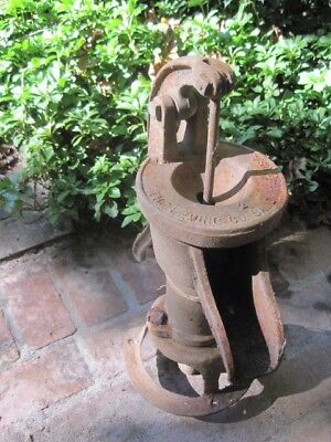 "Vintage(Antique?) Decorative Water Well Pump by Breming 22"" Tall"