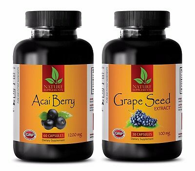 Fat burner and metabolism booster - ACAI BERRY – GRAPE SEED EXTRACT COMBO -grape