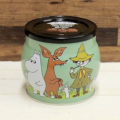 MOOMIN VALLEY chocolate cookie can green