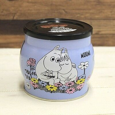 MOOMIN VALLEY chocolate cookie can blue