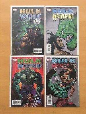 Hulk Wolverine Six 6 Hours 1 2 3 4 Complete Set Lot 1-4 Jones Marvel VF/NM