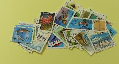 Thematic stamp packet: 100 Sealife on stamps