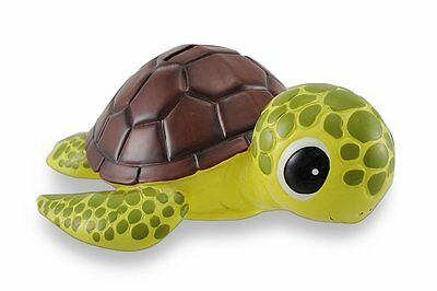 Bobble Head Turtle Coin Bank, Brown Shell