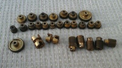 meccano joblot of brass gears ect