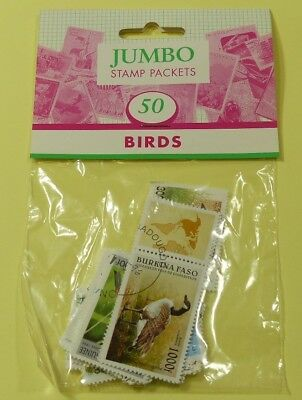 Thematic stamp packet: 50 Birds on stamps