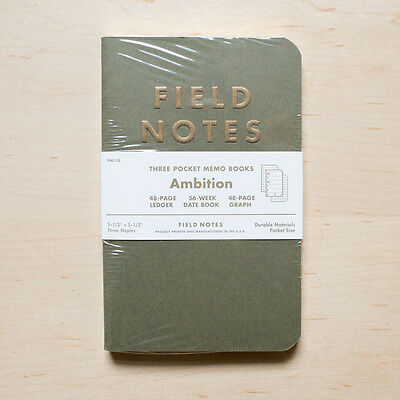 FIELD NOTES Ambition - WINTER 2014 - 3 Sealed Notebooks