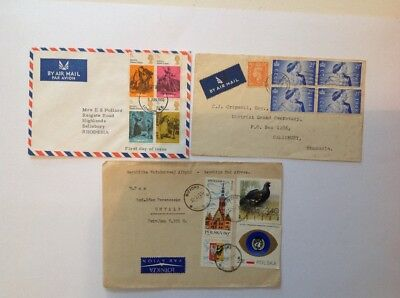 rhodesia 1948, masonic mail and 2 others