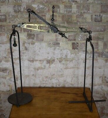 Antique Brass Iron Parnall & Sons Tea shop Haberdashery Chemist Pharmacy Scales