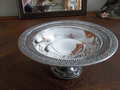 "Vintage MUECK-CAREY Sterling Silver 7 1/4"" Bowl Reticulated Edge Pat 687"