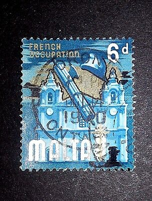 Malta 1965 Definitive Issue With Foreign Hand Stamp Of Toronto & Date 1970