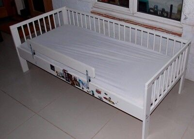 Ikea toddler bed with mattress and guard 165cm white