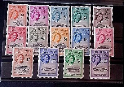 Tristan Da Cunha 1960 -Marine Life-Complete Set Of 14 Values ,u/m