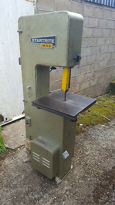 3 phase Startrite Bandsaw 14-S-5. Sale includes selection of blades, some new.