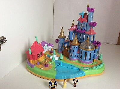 Vintage Polly Pocket 1997 Disney's Belle. Beauty And The Beast Magical Castle