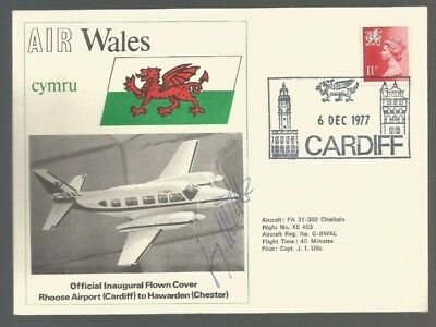 Gb Cover  Air Wales Signed