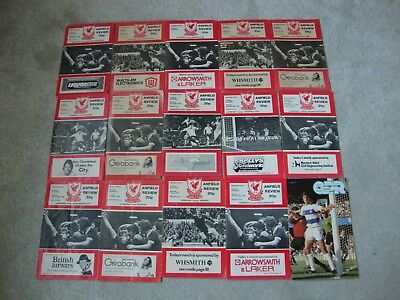 Collection Of 30 Liverpool Homes & Aways 1978-79