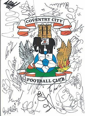COVENTRY 2006/7 & 07/8 PLAYERS HAND-SIGNED PAGES- BISCHOFF, BEST, GRAY, TABB etc