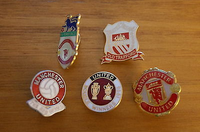 5 Manchester  United Football Badges