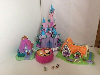Vintage Polly Pocket DISNEY Bundle With Working Lights And A Few Figures