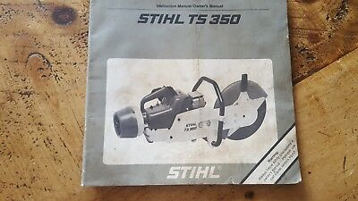 stihl ts350 user tool manual