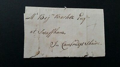 1793 DOWNHAM town stamp to Swaffham Cambridgeshaire (sic)