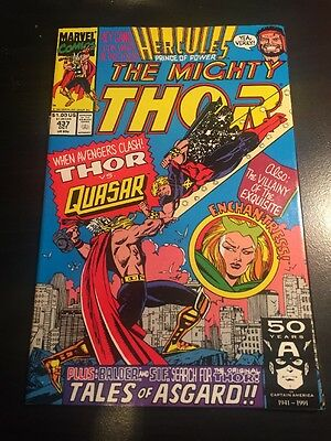 Mighty Thor#437 Incredible Condition 8.5(1991)Quasar,Hercules, Frenz Art!!