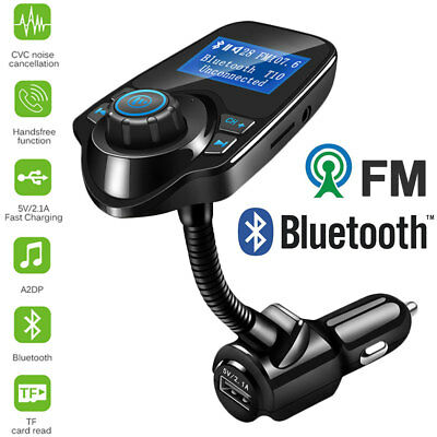 Hands-free Bluetooth Car Kit FM Transmitter LCD TF MP3 Player USB Car Charger