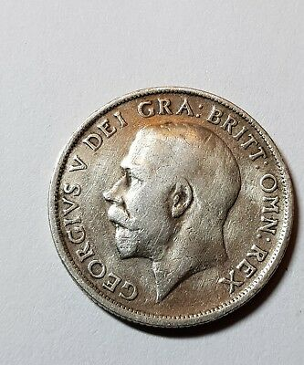 1915 British Silver Coin - One Shilling - George V.