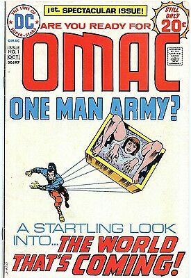 1974 Omac One Man Army #1 Jack Kirby Art ( Bronze Age Comic )  Fine Condition