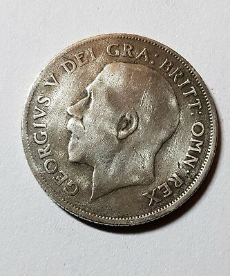 1922 British Silver Coin - One Shilling - George V.