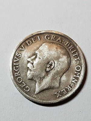 1917 British Silver Coin - One Shilling - George V.
