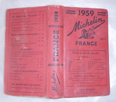 Guide Michelin Rouge 1959