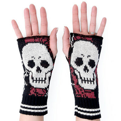 SKULL Handwarmers, Knitted Pair, by Green3 Apparel