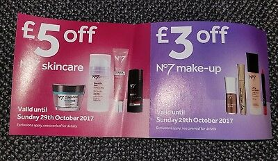 Boots No 7 Money off Voucher, Skincare and Makeup